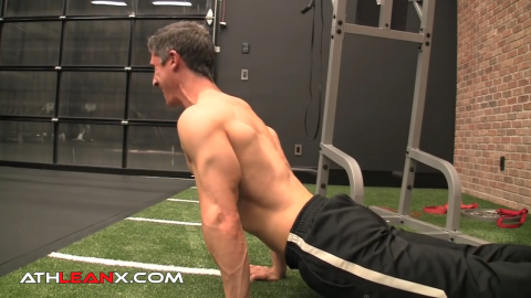 1 and a half rep divebomber pushup for triceps