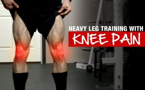 heavy leg training with knee pain