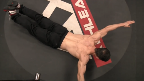angel of death lower back exercise