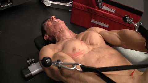 decline cable dip lower chest exercise
