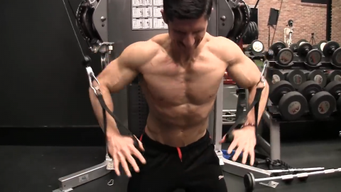kneeling x press lower chest exercise