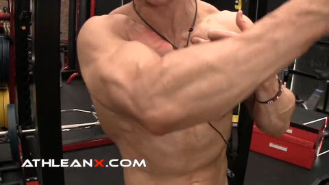 movement that corresponds with upper chest development
