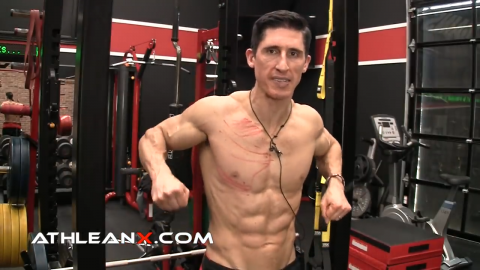 jackhammer pushdown lower chest exercise
