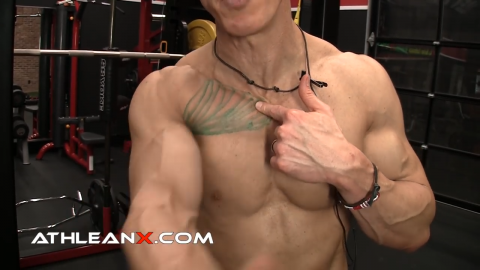 follow the fibers of the upper chest
