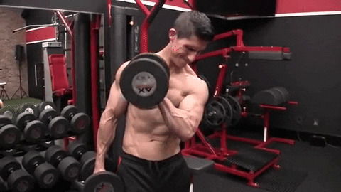 pronated forearm crossbody hammer curl exercise