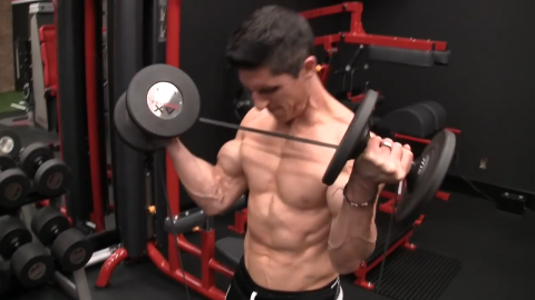 banded dumbbell curl strongest contraction at the end of the strength curve