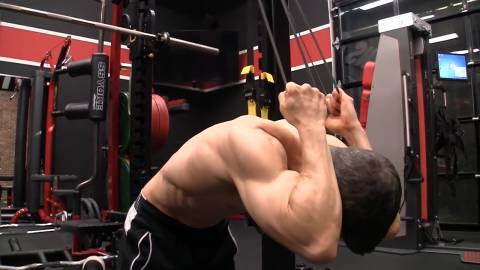 banded pull downs with additional resistance abs exercise