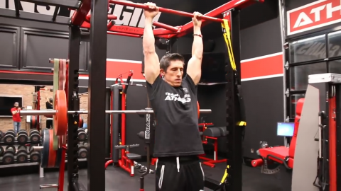 bar hang for 30 seconds for decompression of spine