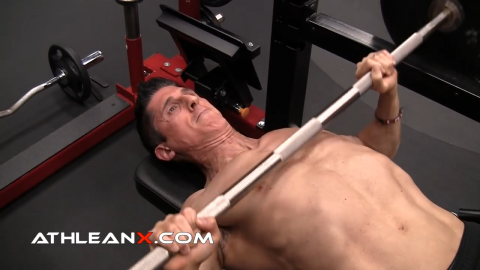 classic bench press chest exercise
