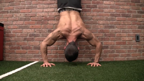 handstand press shoulder exercise