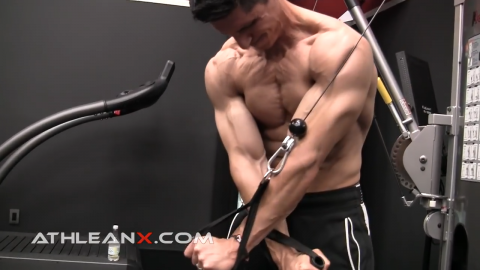 high to low cable crossover chest exercise