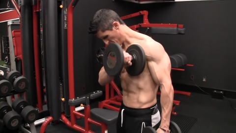 pronated cross body curl biceps exercise