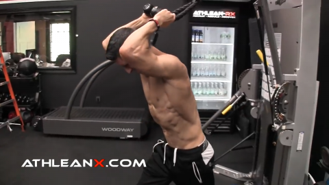 triceps pushaway puts the long head of the triceps on stretch