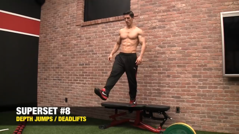 depth jump exercise