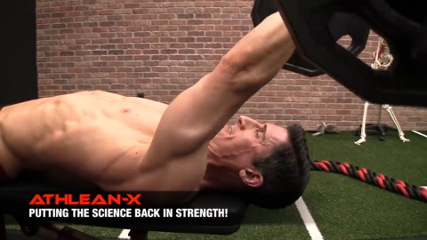 keep your elbows angled back in the triceps extension