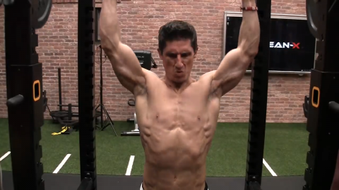 barbell overhead press for shoulders