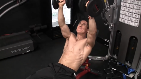 bench press up total body chest exercise