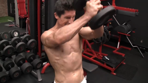 dumbbell press out for shoulders metabolic