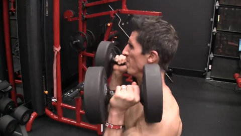 dumbbell push press for shoulders power