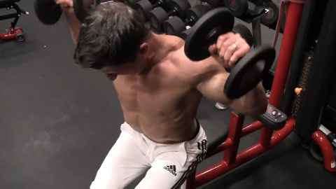dumbbell urlacher for rear delts