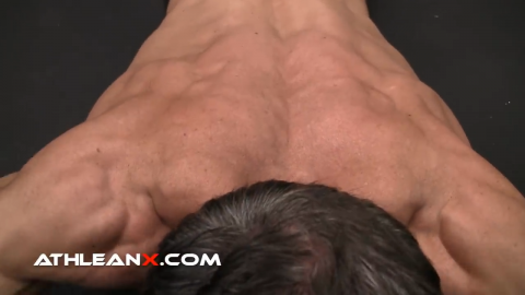 a light weight is enough to overload the scapular shoulder muscles in the prone floor press