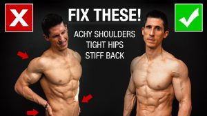 4 morning stretches you should do every day for achy shoulders, tight hips, stiff back