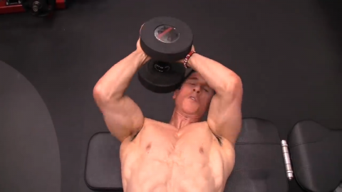 assisted eccentrics in dumbbell pullover for back hypertrophy