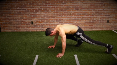 lateral mountain climber exercise