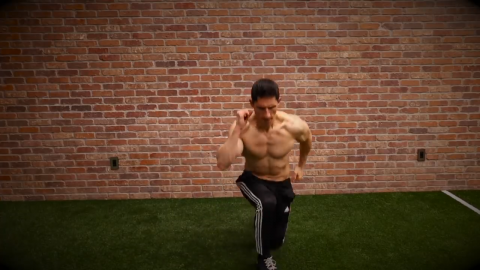 split squat lateral hops