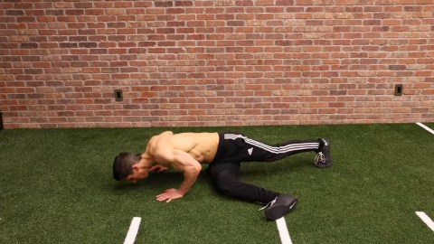 step through pushups