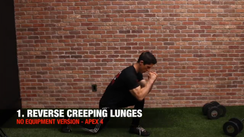 bodyweight reverse creeping lunges