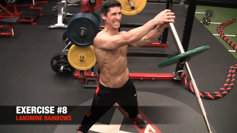 landmine rainbows upper chest exercise