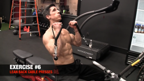 lean back cable presses upper chest exercise